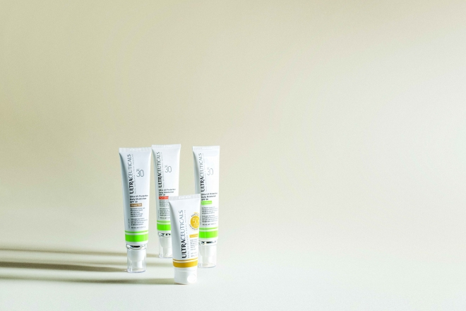The Ultra UV Protective Range against a light background.